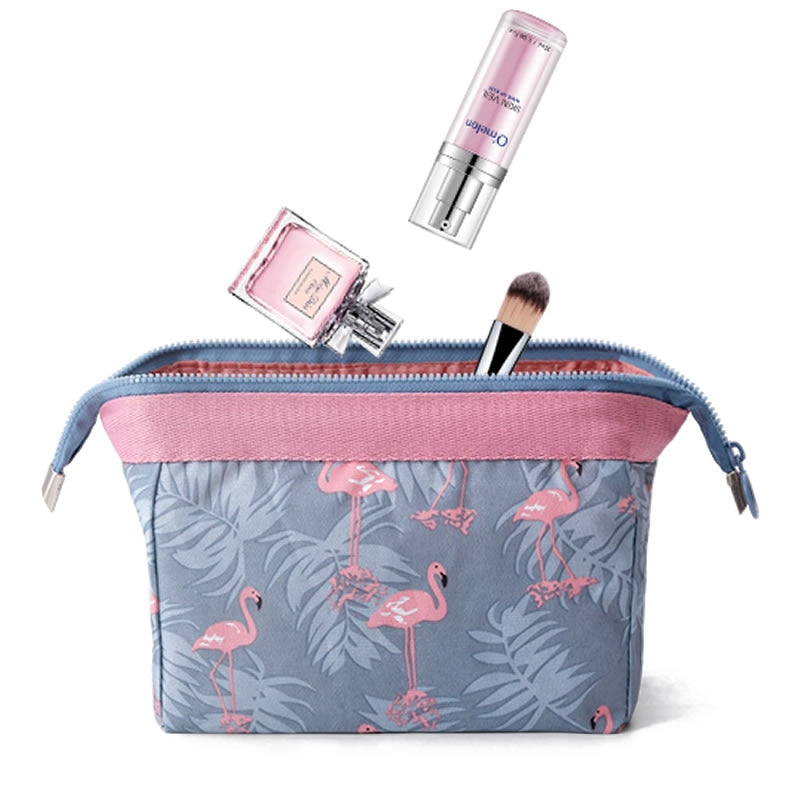 Women Travel Animal Flamingo Make Up Bags Girl Cosmetic Bag Makeup Beauty Wash Organizer Toiletry pouch Storage Kit Bath Case