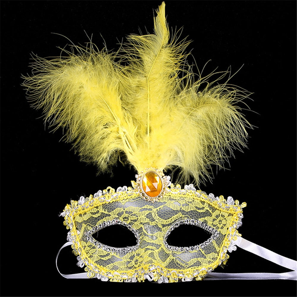 Sexy Diamond Venetian Mask Venice Feather Flower Wedding Carnival Party Performance Purple Costume Sex Lady Mask Masquerade 4