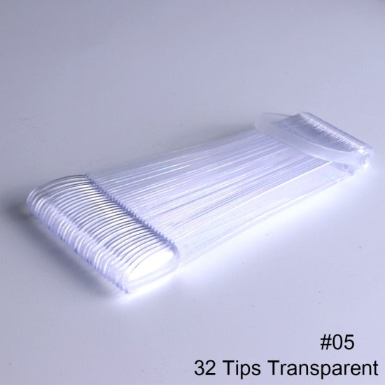 50/32/24 Tips/Set Acrylic Fake Nails Display For Gel Polish Manicure Accessories