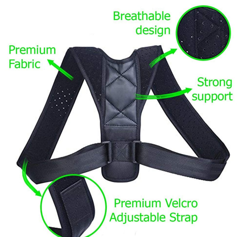 Support Belt Adjustable Back Posture Corrector Posture Correction