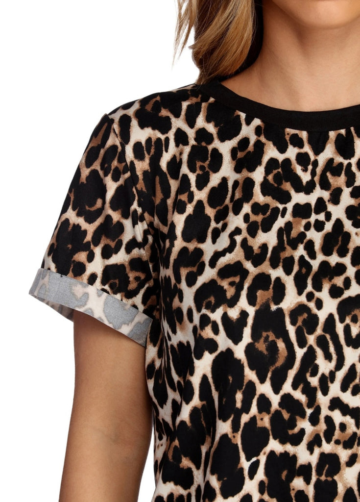 Women Summer T shirt 2020 Fashion Leopard T Shirt Short Sleeve Casual Tops Tees Plus Size Sexy Streetwear T-shirt Camisas Mujer