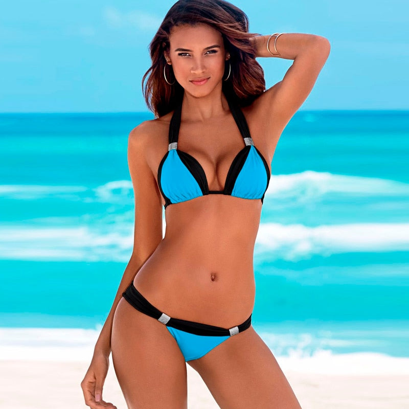 Two-Piece High Waist Swimsuit Push Up Bikini