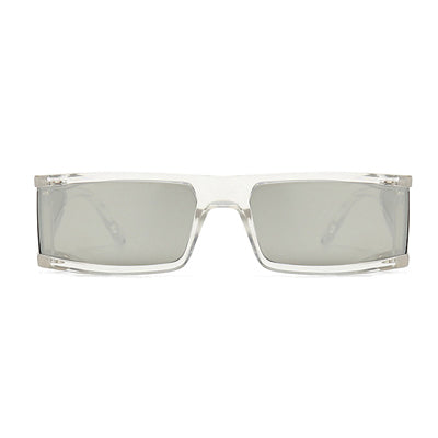 Fashion Rectangle Small Sunglass Punk Gafas Clear Lens One Piece