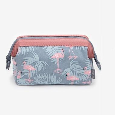 Women Travel Animal Flamingo Make Up Bags  Beauty Wash Organizer