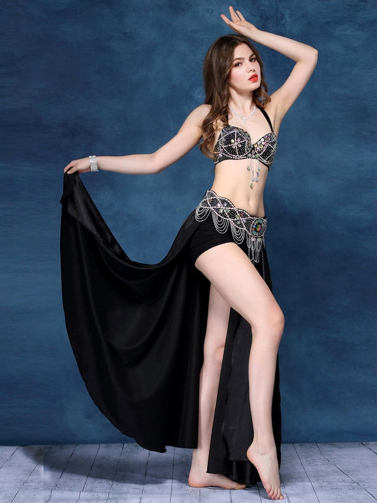 Beaded Gems And Gorgeous Crystals Adorn Belly Dance Skirts