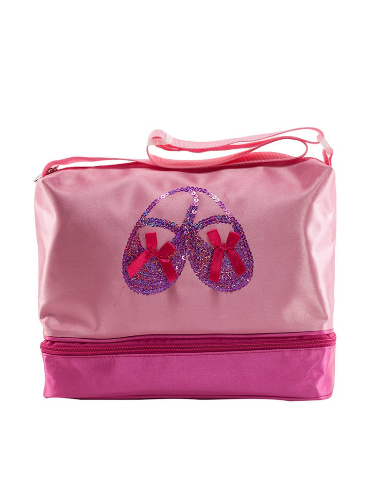 Double Layer Dance Bags?For Girls With Ballet Shoes Sequins