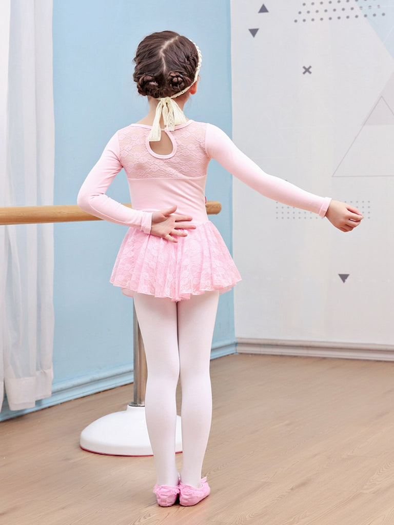 Girls Ballet Lace Skirted Leotard