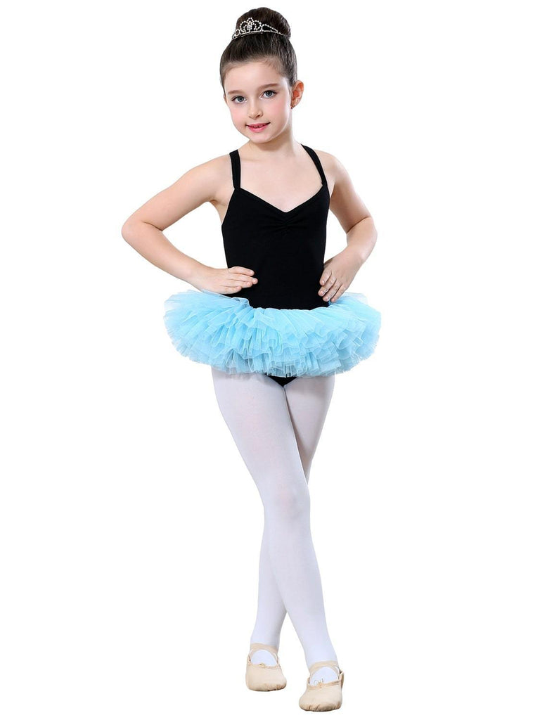 Girls Basic Shoulder-straps Skirt Kid Dance Ballet Tutu Dress