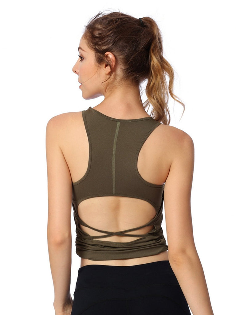 Women's Yoga Backless Tank Top