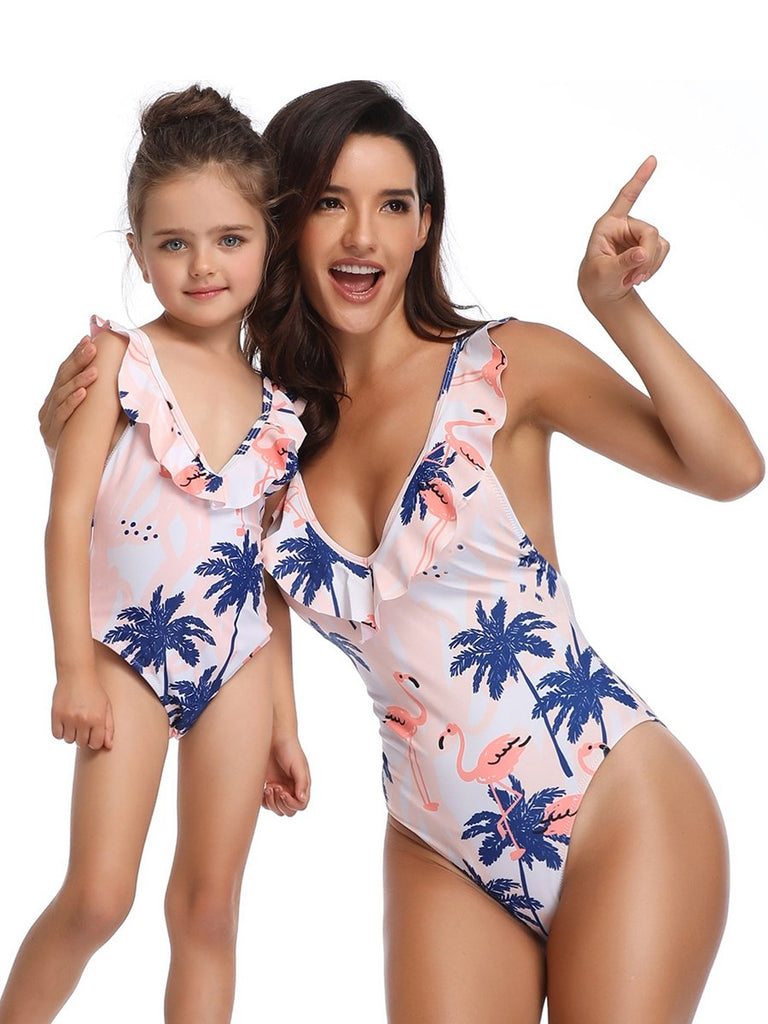 Baby Swimming Costume Swimsuits With Ruffle For Ladies