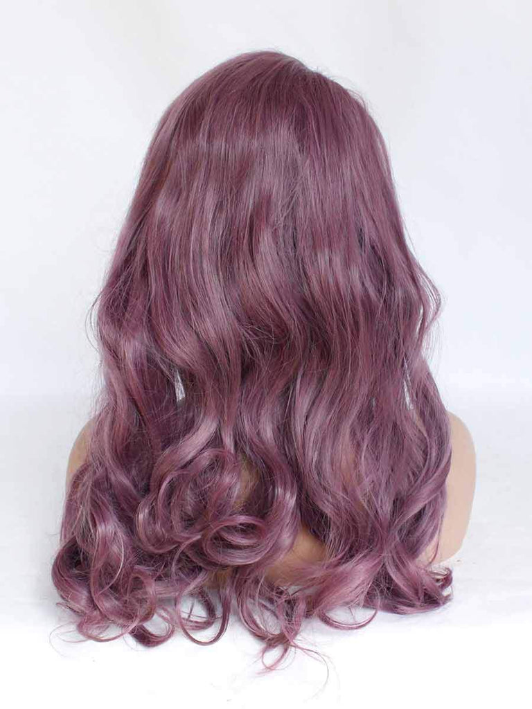 Fashion Mixed Purple Diagonal Big Wave Wig