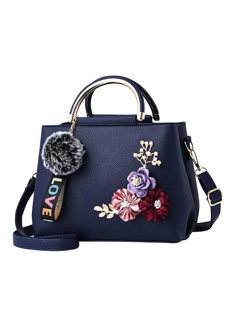 Artificial Flower Handbag Stereo Flowers Messenger Bag