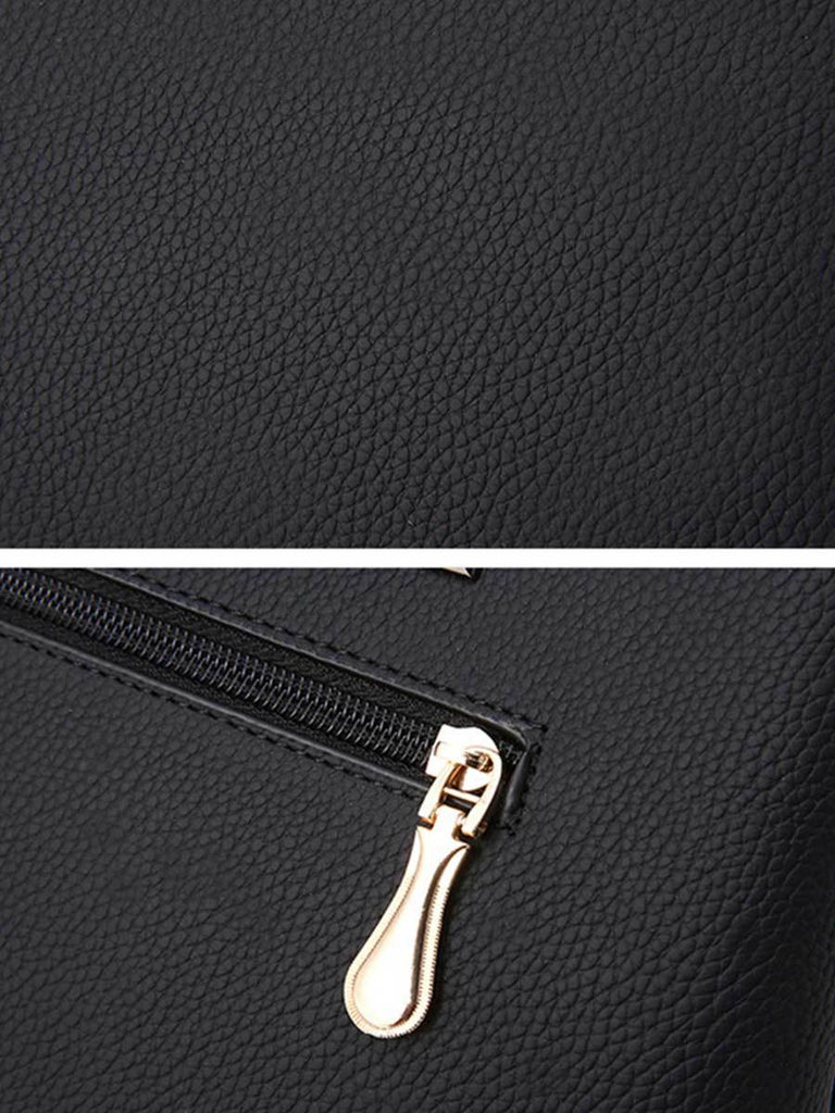 Women Bag PU Contrast Color Handbag