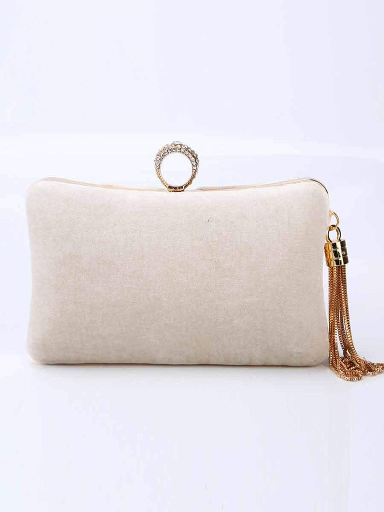 Banquet Bag Velvet Ring Clutch Tassel Bag