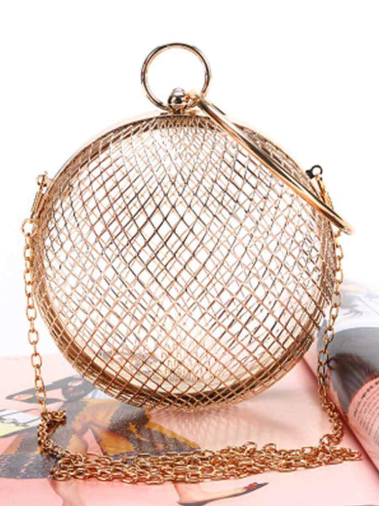 Trendy Mesh Ball Banquet Bag