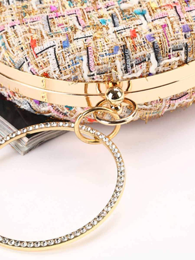 Simple Banquet Bag Pure Handmade Small Fragrance Wind Clutch Bag