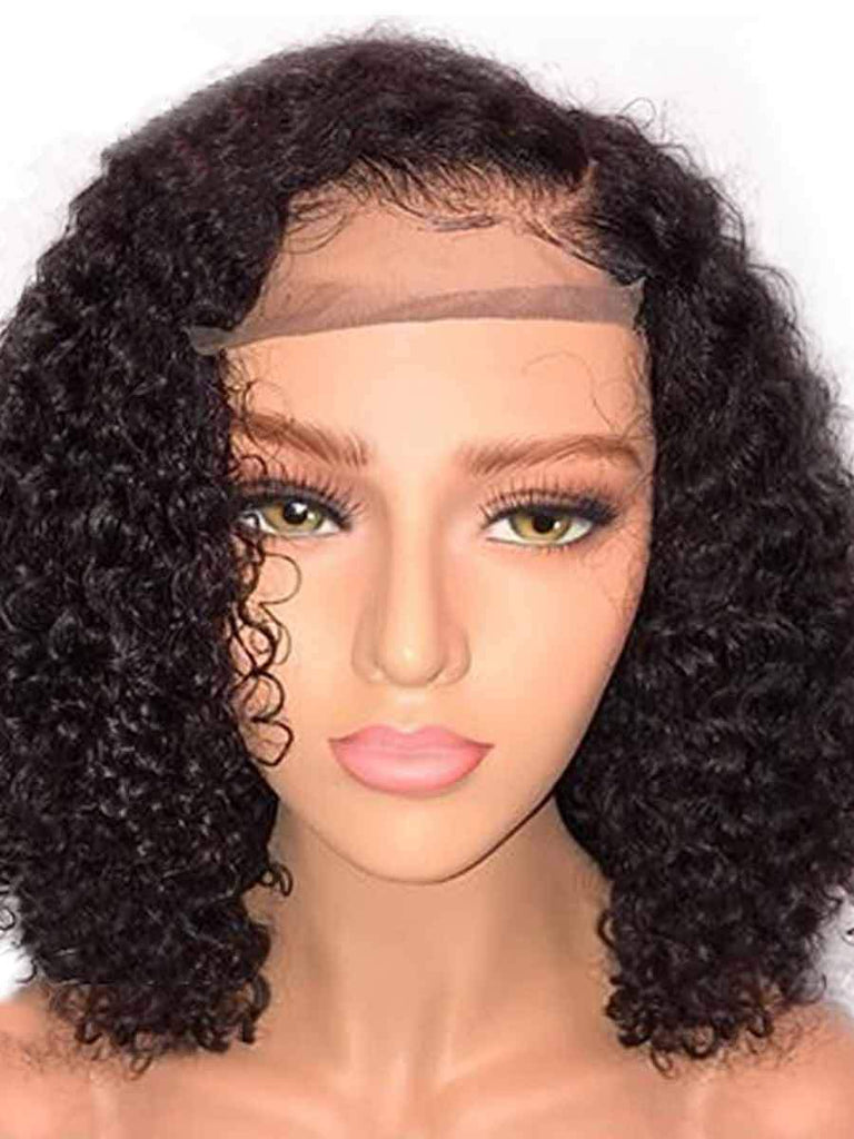 Front Lace No Bangs Short Curly Wig
