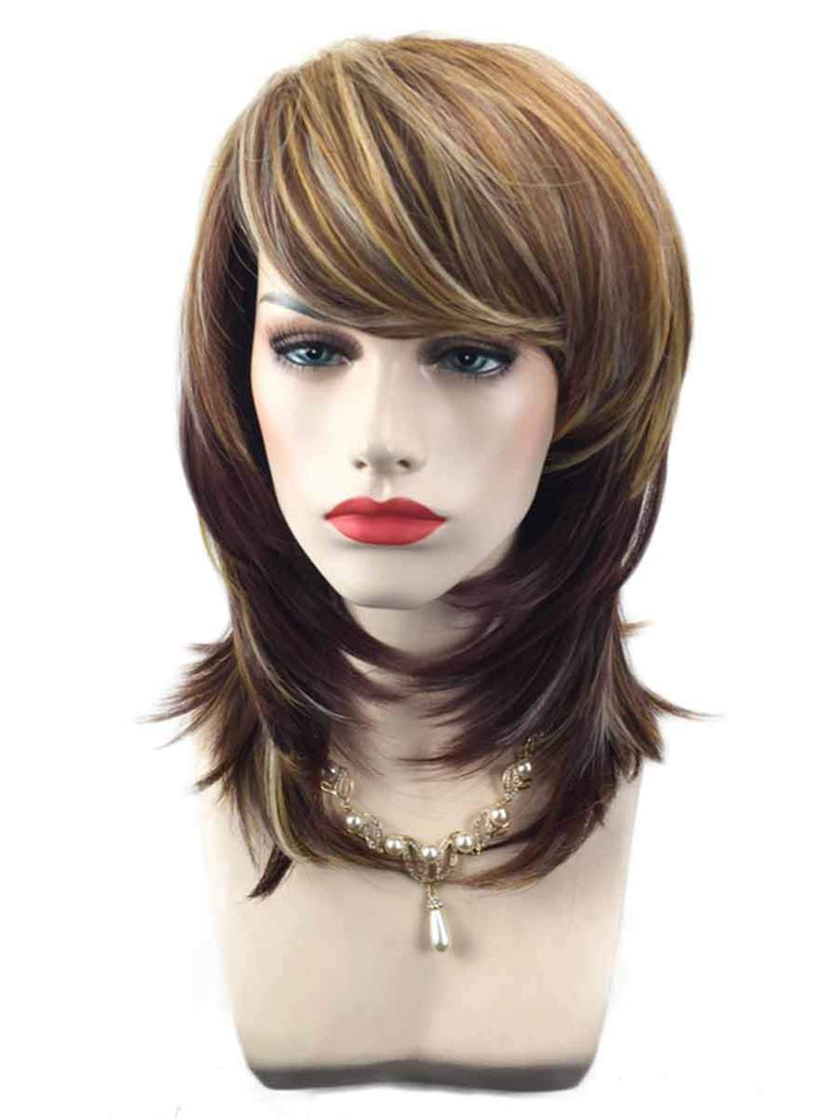 Rose Net Wig Cover Gradient Color Short Curly Hair
