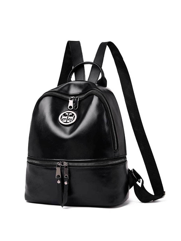 Ladies Backpack Fashion Solid Color Multi-function Bag