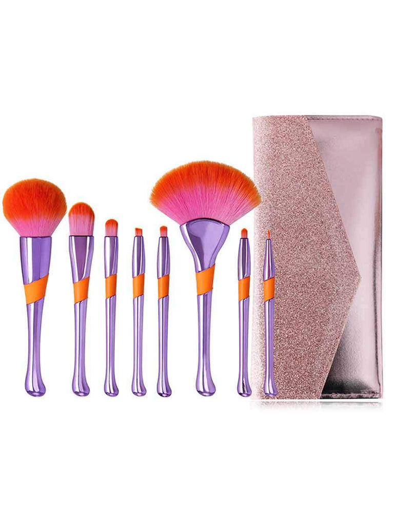 8 Pcs Baseball-shape Makeup Brush Set