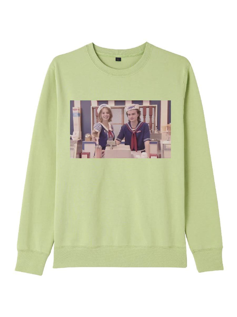 Stranger Things Clothes Cute Navy Suit Picture Printing Pullover
