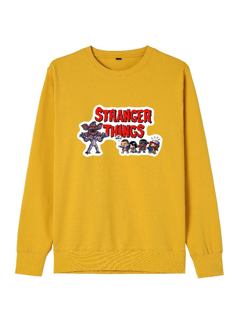 Stranger Things Clothes Fight Against Darkness Cartoon Print Pullover