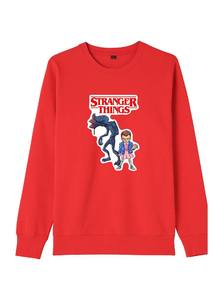 Stranger Things Clothes Crew-neck Cartoon Print Pullover