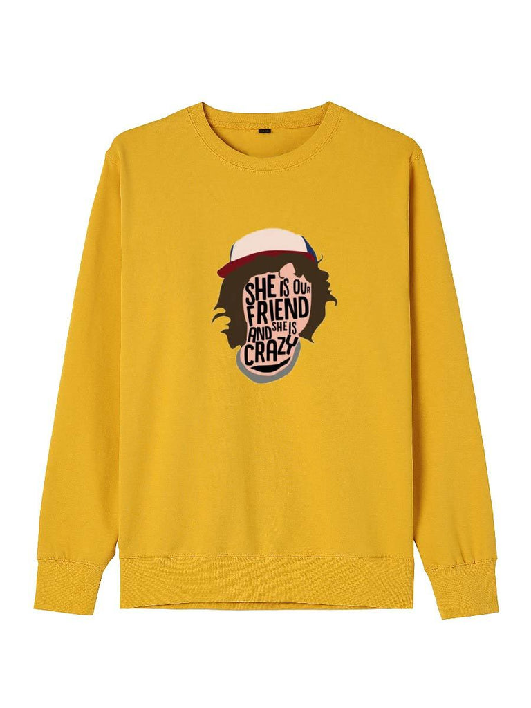 Stranger Things Clothes Actor's Lines Printing Crew-neck Sweatershirt