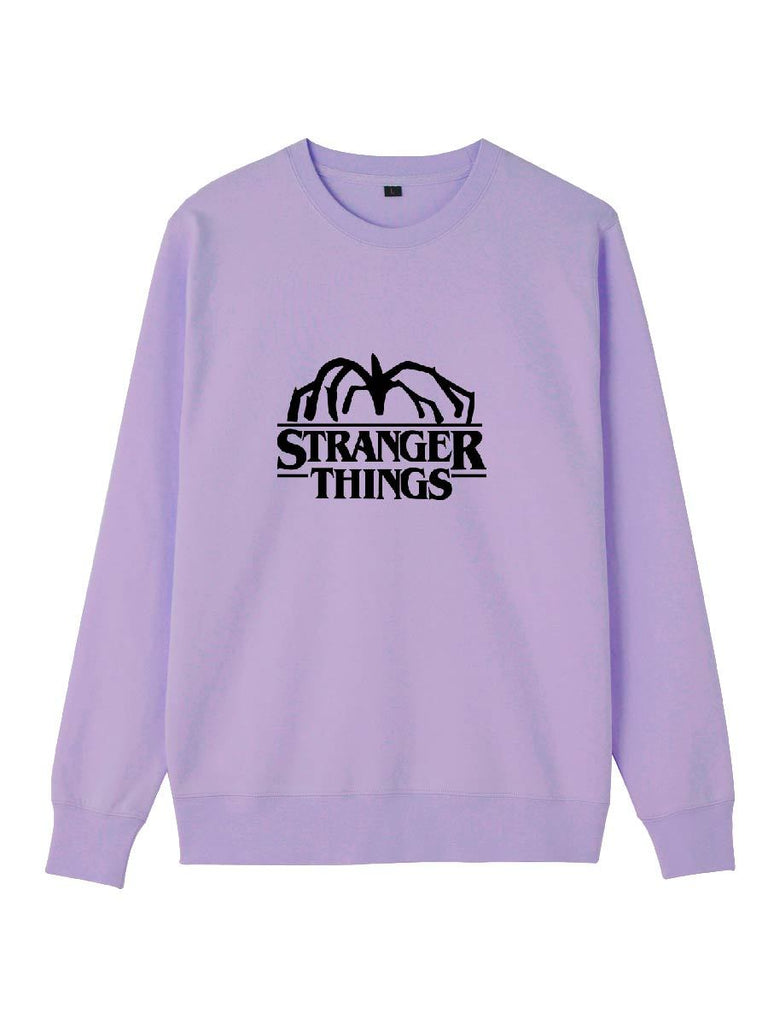 Stranger Things Series Letter Print Pullover