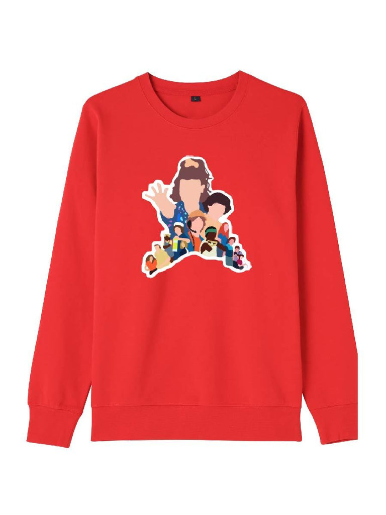 Stranger Things Clothes Faceless Cartoon Pattern Sweatershirt