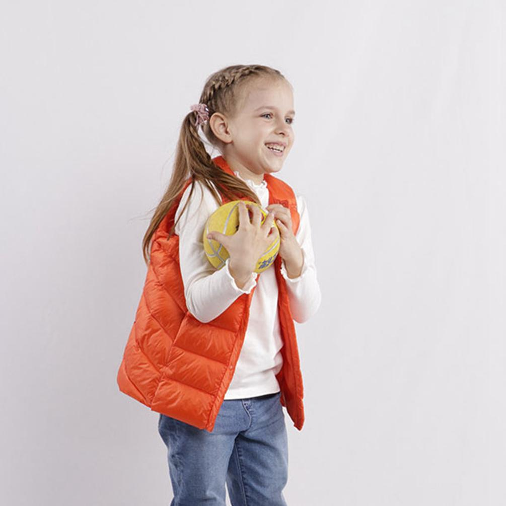 Kids Warm Gilets Lightweight Round Collar Jacket