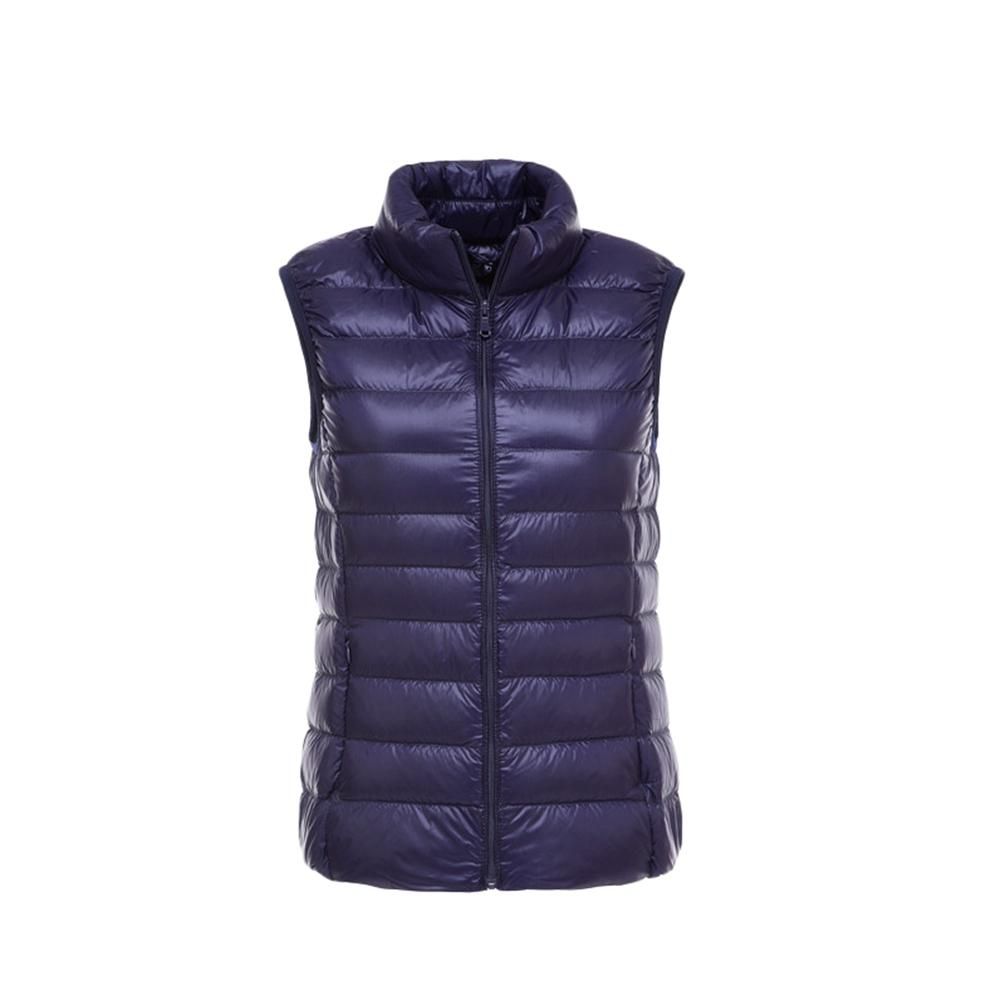 Womens Down Gilet High Neck Quilted Gilet Water Resistant Vest Light Weight Packable Jacket With Front Pockets