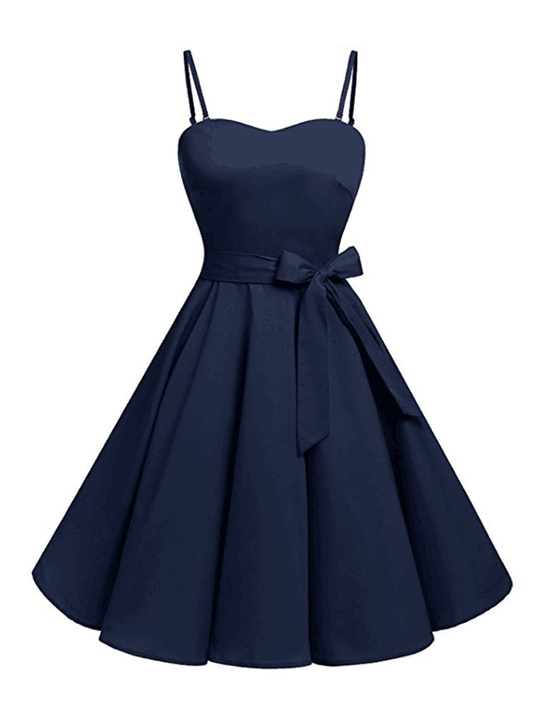 Vintage Plus Size Dress Bowknot Design Slip Dress