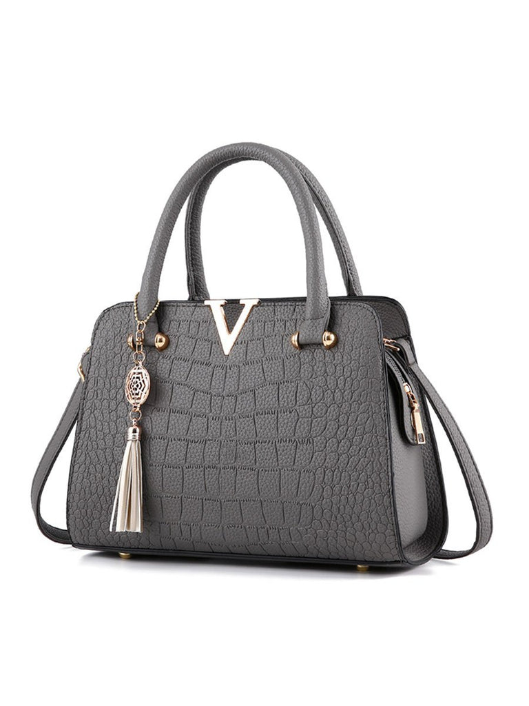 Ladies Bag Women Crocodile Pattern Handbag