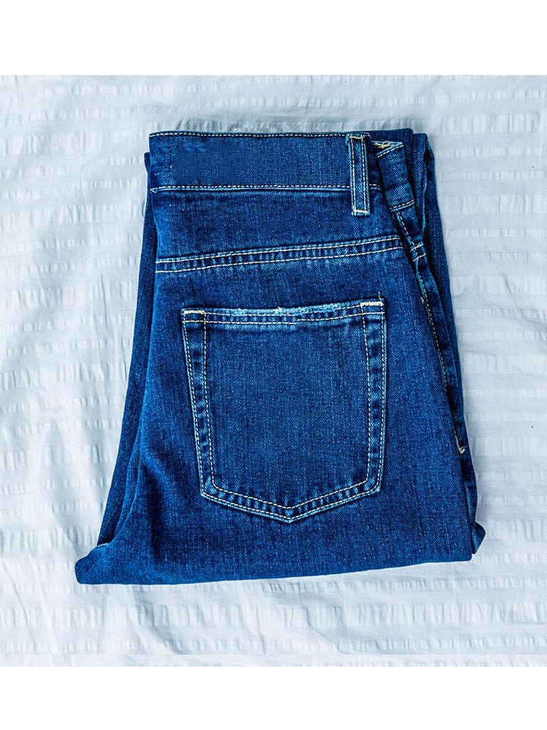 Women Jeans High Waist Straight-Leg Denim Pants