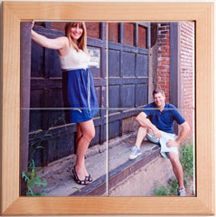 "Wood Frame for 4 - 4"" Photo Tile Mural"