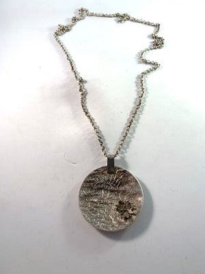 Atelje Stigbert for Waldemar Jonsson, Sweden year 1970 Sterling Silver Pendant Necklace. Signed