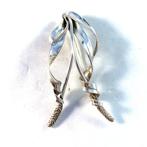 Acke R Tötterman, Sweden 1951 Large Sterling Silver Brooch. Signed.