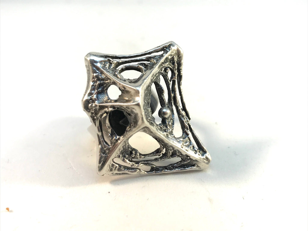 Karl Laine vintage silver ring. Finnish vintage jewelry
