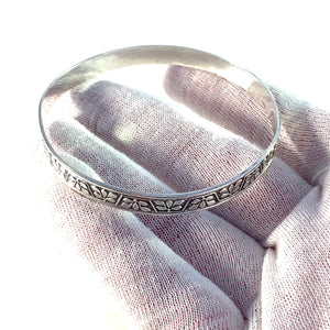 Arvo Saarela, Sweden 1959 Vintage Sterling Silver Bangle Bracelet.