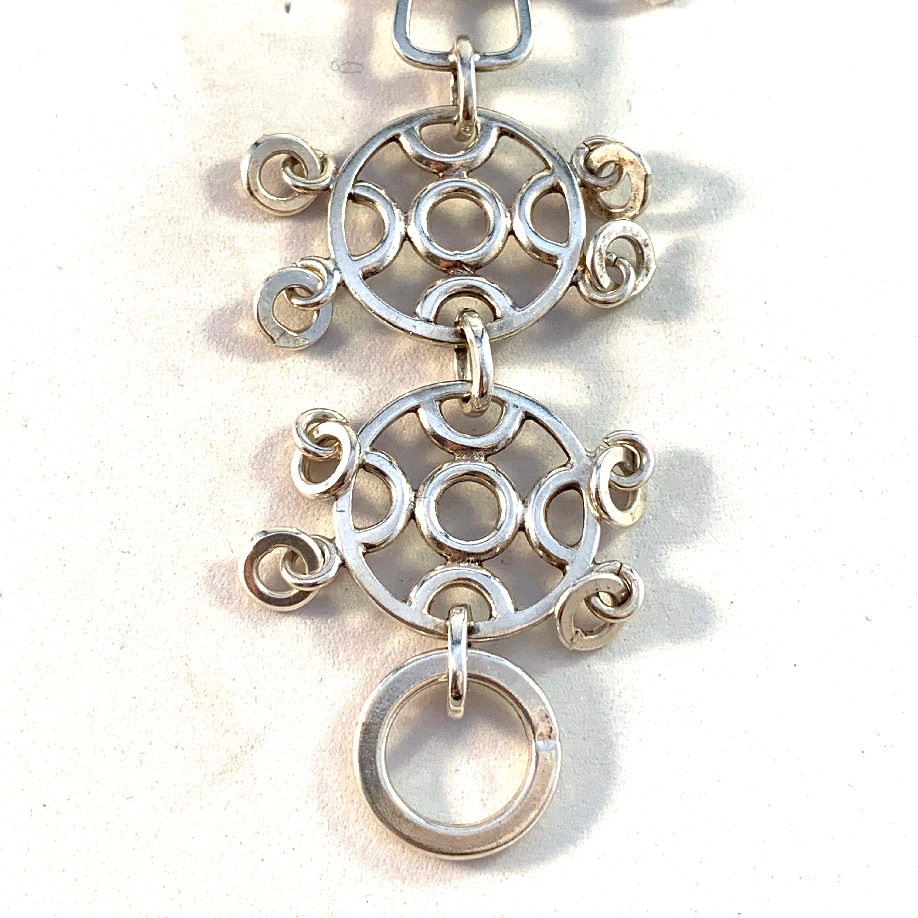 Juhls Kautokeino, Norway Vintage 1970s Huge Sterling Silver Traditional Pendant.