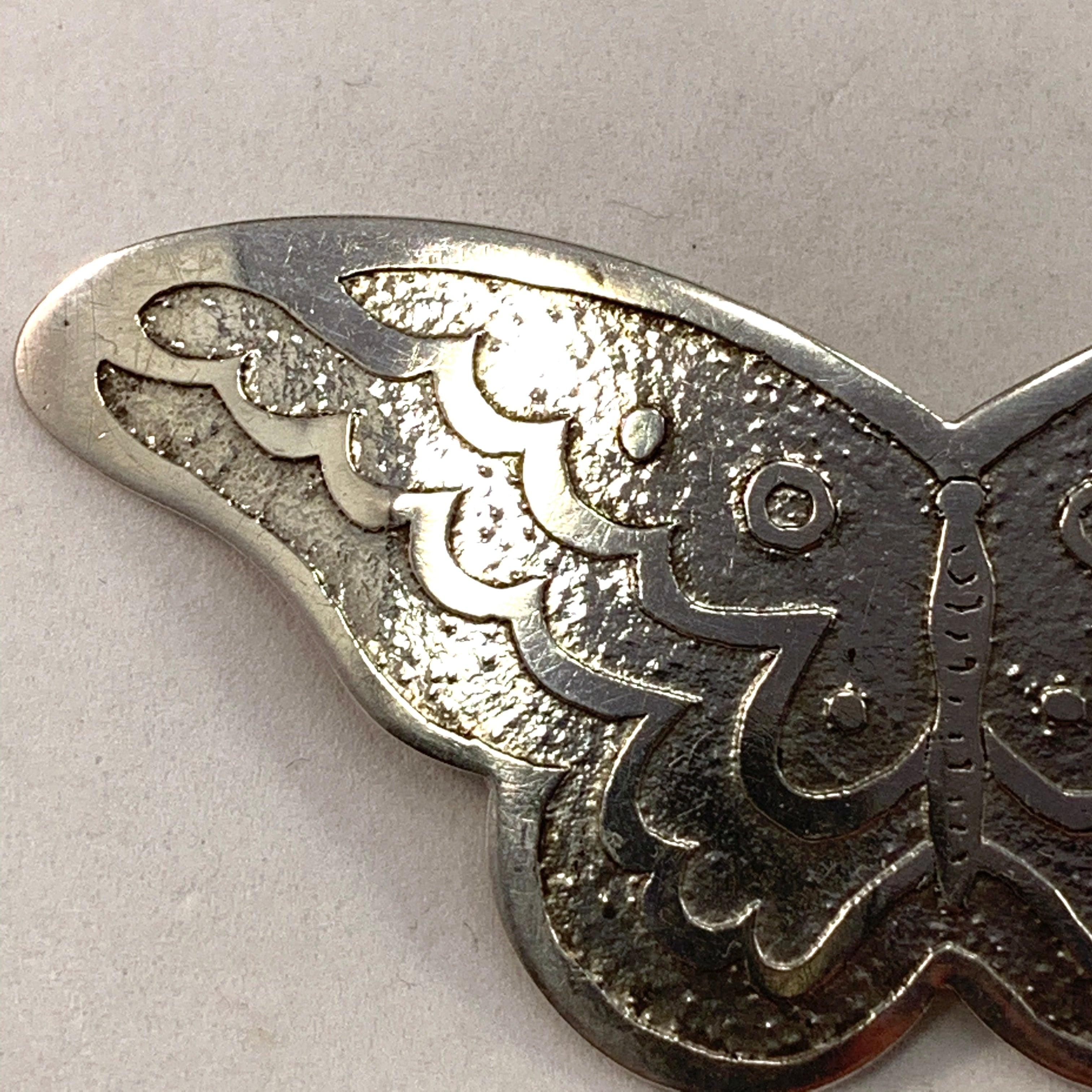 A Nilsson, father of Wiwen Nilsson, Sweden year 1905 Antique Art Nouveau Butterfly Brooch.