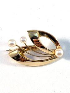 Scandinavian vintage gold jewellery