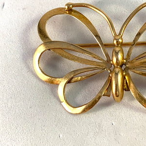 Kaplan, Stockholm 1942 War-Time 18k Gold Butterfly Brooch.