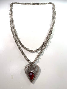 Georgian silver paste necklace