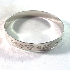 Owe Johansson, Stockholm 1975 Vintage Sterling Silver Bangle Bracelet.