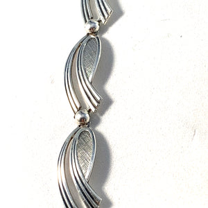 Swedish Import 1950-60s Mid Century Modern Solid 830 Silver Necklace.