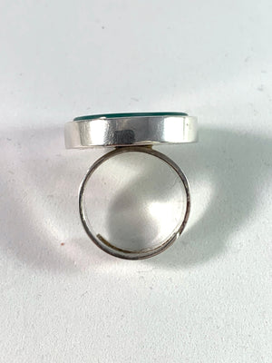 Bengt Hallberg, Sweden year 1973 Sterling Silver Agate Adjustable Size Ring.