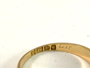 Chester year 1903 Antique Edwardian 18k Gold 0.20ctw Old Cut Diamond Ring.