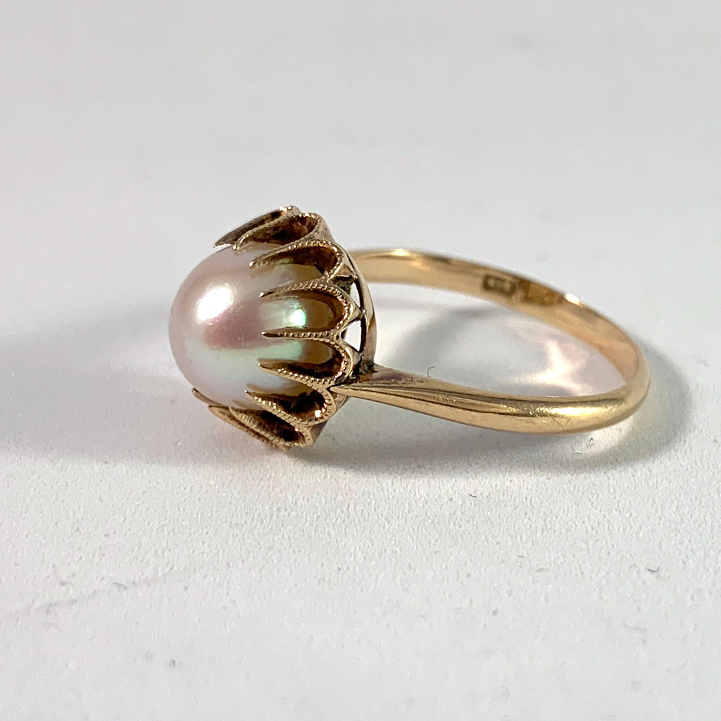 Mid century gold ring
